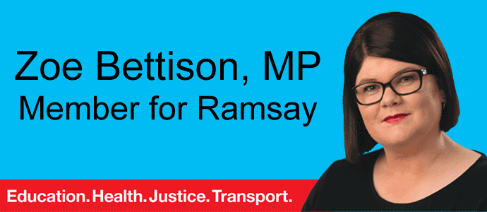 Zoe Bettison MP, Member for Ramsay
